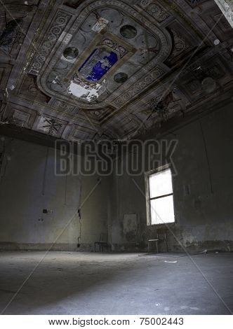 Interiors Of An Abandoned Madhouse In The Downtown