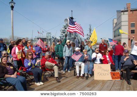 Tax Day Rally in Buffalo,NY