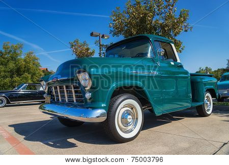 Green 1956 Chevrolet 3100 Pickup Truck
