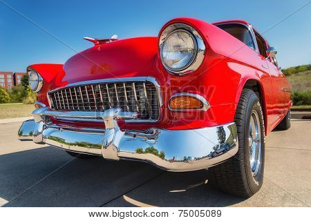 Red 1955 Chevrolet 210 Classic Car