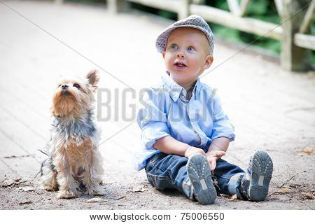 Little boy in the park