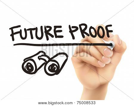Future Proof Words Written By 3D Hand