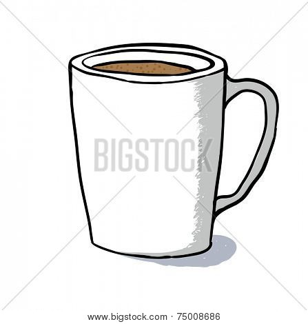 Coffee Cup sketch, vector illustration on white background