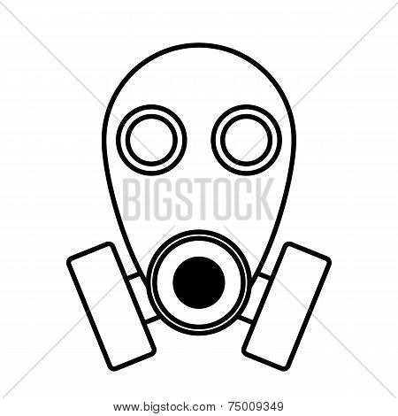 Gas Mask Icon On White Background