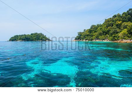 Blue Sea And Seascape Veiw, Lipe Island, Thailand