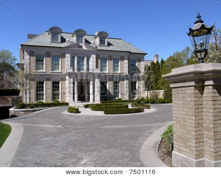 Mansion with gate