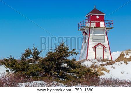 Prince Edward Island lighthouse in Covehead, PEI, Canada.