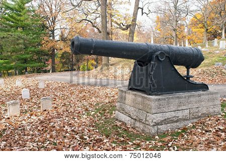 Revolutionary War Cannon in Cemetery
