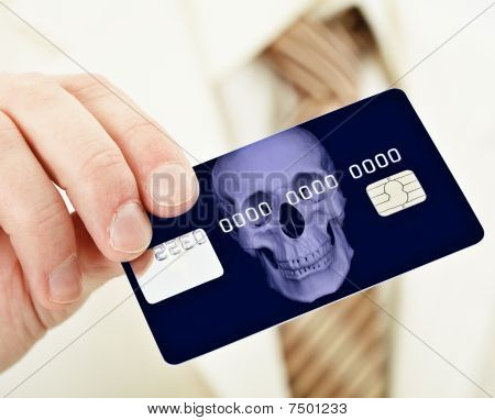 Banking Plastic Credit Card Bearing Death