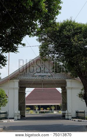 the main gate of pakualaman palace yogyakarta