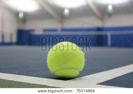 Tennis ball at indoor court