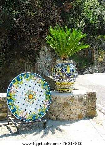 Typical Sicilian glazed ceramic