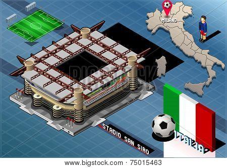 Isometric Stadium, San Siro, Milan, Italy