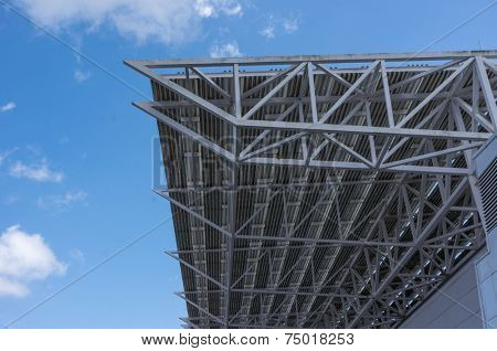 Picture of steel roof construction.