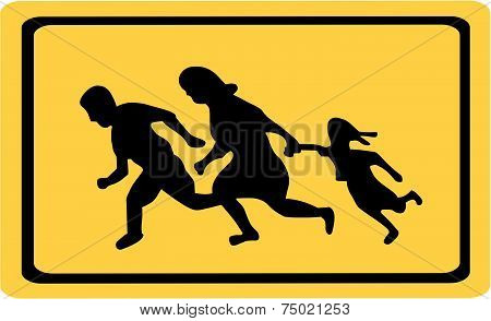 Running Family  / Running Immigrants Sign