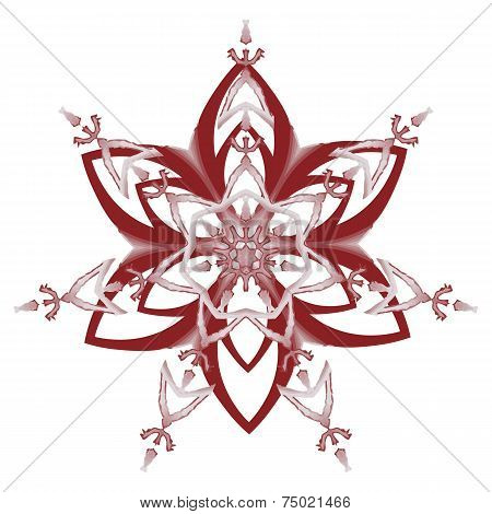 Set Of Red Snowflakes Holiday