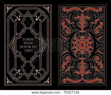 Arabic decoration on book covers. Vector illustration.
