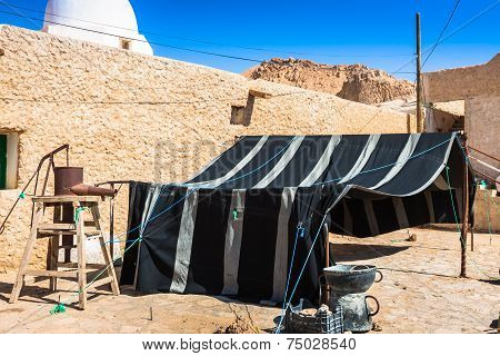 Typical tent Berber in Chebika Tunisia Africa