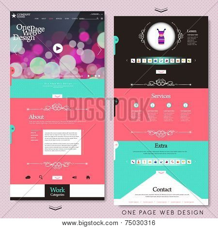 Fashion Style One Page Website Design Template