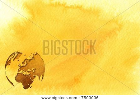 aged Europe map-vintage artwork