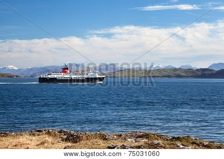 Caledonian Macbrayne Ferry In The Sound Of Mull, Inner Hebrides, Scotland
