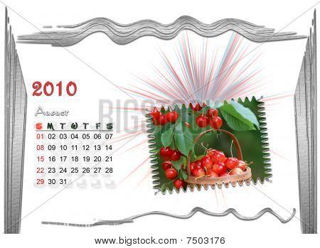 2010  Calendar august