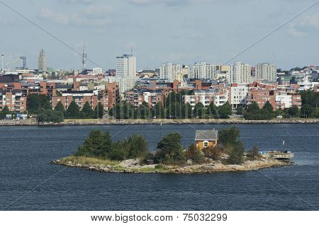 Views Of Helsinki From The Baltic Sea