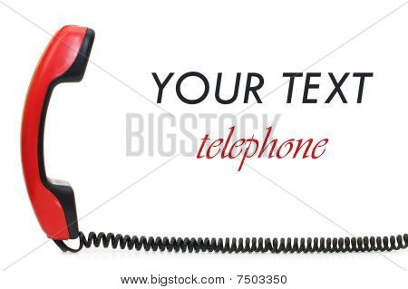 Retro Telephone Receiver  Isolated On White Background