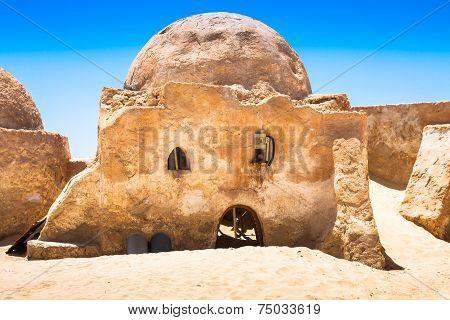 Nefta,Tunisia,August 15,2013:The Houses From Planet Tatouine - Star Wars Film Set