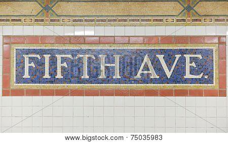 Fifth Avenue Subway Station, New York