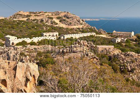 Military Buildings On Cape Capo Orso, Sardinia