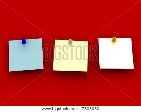 Blue, White And Yellow Sticky