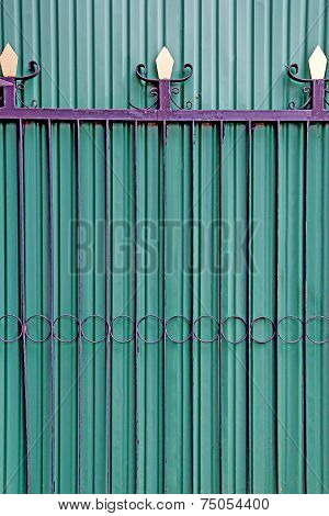 Green Folding Doors,iron Door