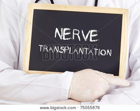 Doctor Shows Information: Nerve Transplantation