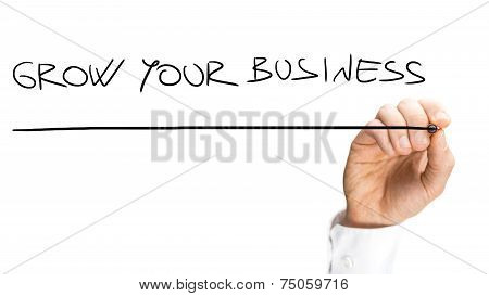 Handwritten Underlined Grow Your Business Texts