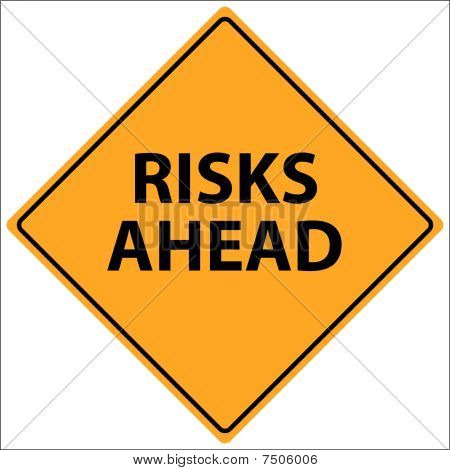 Risks Ahead Vector