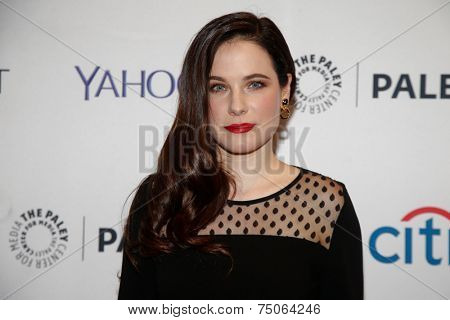 NEW YORK-OCT 18: Actress Caroline Dhavernas attends PaleyFest NY 2014 for