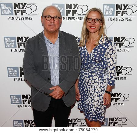 NEW YORK-OCT 8: Director Robert Kenner (L) and producer Melissa Robledo attend