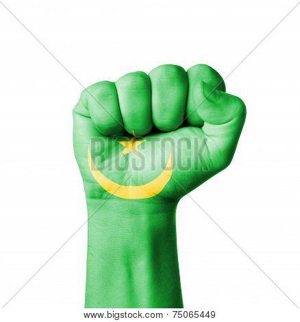 Fist Of Mauritania Flag Painted