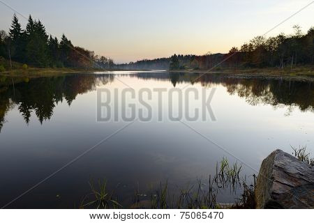 Calm Mountain Lake at Dawn