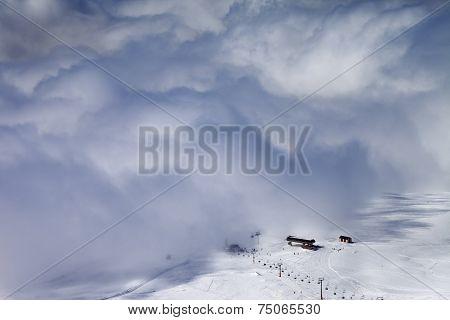 Ski Resort In Clouds