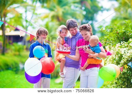 Family At Birthday Party