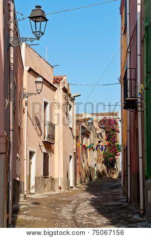 Narrow Street In Bosa