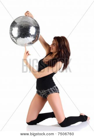 Girl Holding Disco Ball