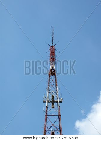 High Red Telecommunication Pylone, Blue Sky