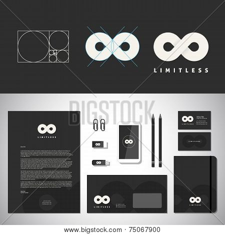 Limitless Abstract Logo Template and Identity