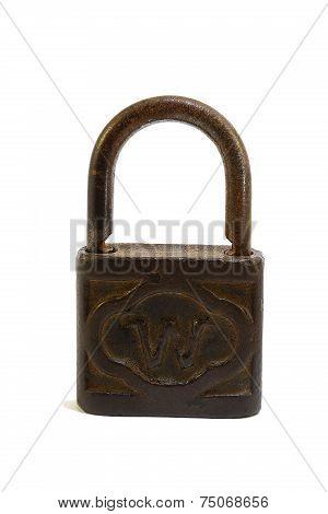 an old rusty lock