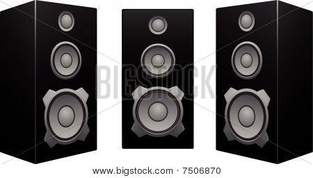 Black Speaker White Background.eps