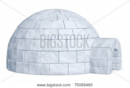 Igloo Icehouse On White Side View