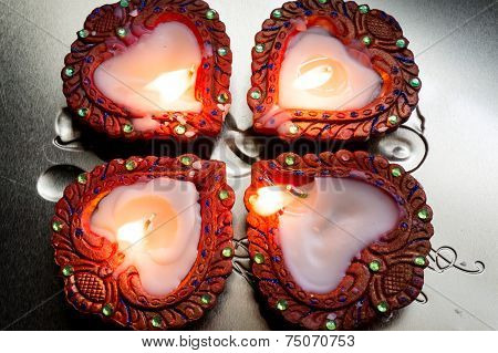 Beautiful Diyas For Diwali